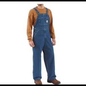Carhartt Bib Overalls Medium Wash Denim
